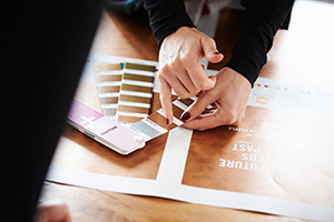Was wäre das Firmenportrait einer Werbeagentur ohne ein Bild vom Pantonefächer. Manche Motive müssen einfach fotografiert werden